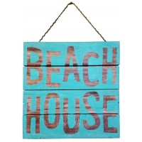 Plank Beach House Sign