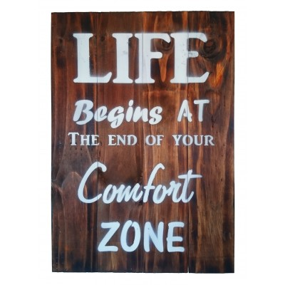 Wooden Board - Comfort Zone