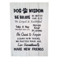 Wooden Board - Dog Wisdom